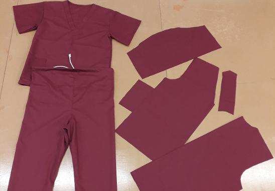 An image relating to Jeffrey Carr Switches Production to Make Scrubs for the NHS